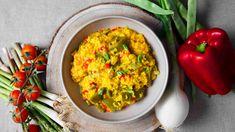 Arroz de verduras Pasta, Guacamole, Crockpot, Mexican, Ethnic Recipes, Food, Vegetable Stock, Food Processor, Essen