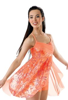 Glitter Tie-Dye Lyrical Dress; Weissman Costumes