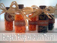 Pumpkin Poop Mini Bottle Craft With Printable Poem And Tags