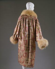 Coat  1920s Lord & Taylor Department Store Silk, fox Metropolitan Museum Back 2