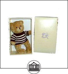Doudou oso de peluche Beige Pull Marrón Blanco rayas Arupa 25cm MY BEST FRIEND  ✿ Regalos para recién nacidos - Bebes ✿ ▬► Ver oferta: http://comprar.io/goto/B01FJCLJG2