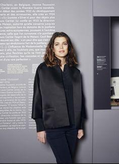 """Charlotte Casiraghi besuchte die Ausstellung """"Cartier. Style and History"""" im Grand Palais in Paris."""
