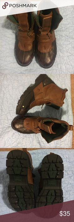 Boots Pre-owned polo boots. Worn a couple times. Polo by Ralph Lauren Shoes Boots
