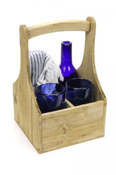 Simple, handsome wood carrier fits four wine bottles perfectly. Or is a helpful and attractive way to carry candles, utensils and other table necessities for outdoor entertaining. Does not come with wine bottle or glasses. It's a perfect fit for our carafe and two water glasses plus a multi towels if you want to create a great set for a special gift! ----- About the shop: HACIENDA Austin showcases locally sourced and globally inspired custom furnishings and curated gifts for the modern ranch…
