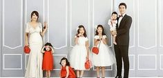 Lee Dong Gook's Family Takes a Wedding Pictorial to Celebrate 10 Year Anniversary White Wedding Dresses, Wedding Gowns, Bridesmaid Dresses, Wedding Photoshoot, Wedding Attire, Lee Dong Gook, Kim And North, Pink Tuxedo, Superman Kids