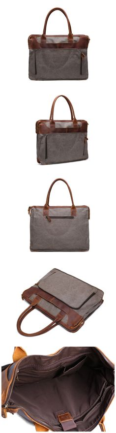 Canvas Messenger Shoulder Bag / Laptop Bags