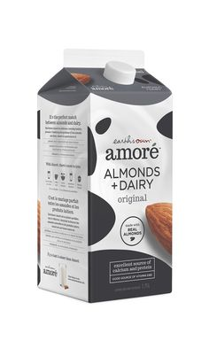 Amoré Almond + Dairy Beverage on Packaging of the World - Creative Package Design Gallery