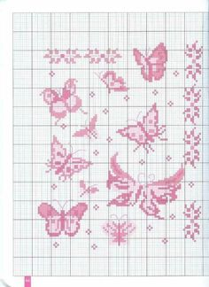 ru / Фото - A. Abrial, M. Rethoret, P. Stitches Wow, Hand Embroidery Stitches, Cross Stitch Embroidery, Embroidery Patterns, Cross Stitch Patterns, Butterfly Cross Stitch, Cross Stitch Heart, Cross Stitch Alphabet, Cross Stitch Flowers