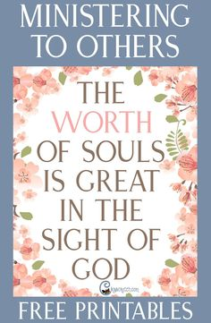 """""""The Worth of Souls Is Great in the Sight of God"""" lesson helps and free printables"""