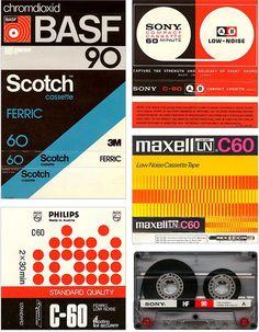 Vintage audio cassette tape sleeves.