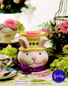 EASTER BUNNY ~ Feb 2015 Warmer of the Month ~ 10% off, Feb only ORDER ONLINE ~ SHIPS DIRECT https://spollreisz.scentsy.us