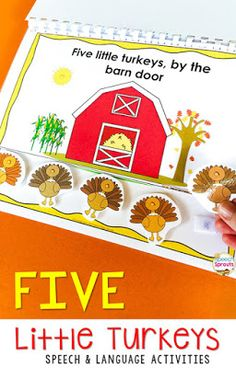 A round-up of fall songs and fingerplays for preschool speech therapy by Speech Sprouts. Speech and language targets for each and additional fall speech therapy activities and resources to create autumn themed units. Thanksgiving Books, Thanksgiving Preschool, Fall Preschool, Preschool Songs, Preschool Language Activities, Preschool Kindergarten, Preschool Speech Therapy, Speech Language Therapy, Speech Therapy Activities