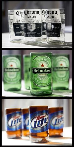 5 Easy Steps To Perfectly Cut Old Bottles For Those Great DIY Crafts! bottle crafts easy 5 Easy Steps To Perfectly Cut Old Bottles For Those Great DIY Crafts! Beer Bottle Crafts, Beer Crafts, Diy And Crafts, Beer Bottle Cups, Beer Bottle Glasses, Beer Bottle Lights, Alcohol Bottle Crafts, Redneck Crafts, Alcohol Glasses