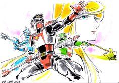 """Un tableau """"Science Fiction Saiyuki Starzinger"""" imaginé par l'animateur @hayama11"""