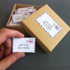 Date Night Box 60 Date Night Ideas Romantic Gift For Wife #WeddingIdeasRomantic