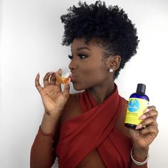 Ready to grow out your current style? Speed up the growth process with the help of Blissful Lengths Liquid Hair Growth… Natural Short Cuts, Natural Hair Cuts, Natural Curls, Short Hair Cuts, Natural Makeup, Natural Hair Styles, Tapered Haircut Natural Hair, Natural Hair Haircuts, Black Hair Growth