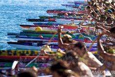 Canoe race at the 2011 Heiva I Tahiti.