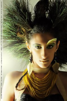 Fantasy Hair Compeion Caged Collection Art Network Almond Eyes