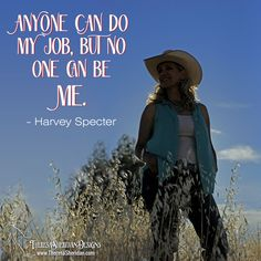 Anyone can do my job, but no one can be me. Rock your brand baby!