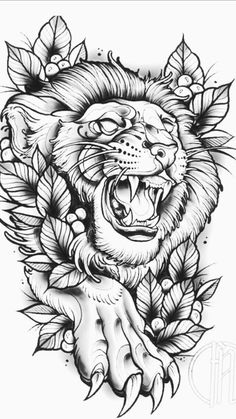 lion tattoos new school & lion tattoos new school Lion Head Tattoos, Body Art Tattoos, Sleeve Tattoos, Tattoo Sketches, Tattoo Drawings, Art Sketches, Graffiti Tattoo, Lion Tattoo Design, Tattoo Designs