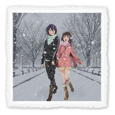 """A Warming Walk in the Heart of Winter"" by requiem-of-kingdom-hearts ❤ liked on Polyvore featuring art"