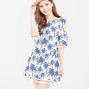 海灘假期椰子樹印花流蘇上衣 Very stylish Asian fashion Asian Fashion, Top Sales, Cold Shoulder Dress, Stylish, Tops, Dresses, Vestidos, Dress, Gowns