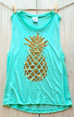 still love this mint pineapple tank