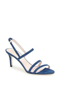 "The Iva is a simple, sophisticated style, I love it in this blue.  I think it's suitable for any day, and any woman.  Perfect for a leisurely visit to the Sixth Floor Museum, or for a night out on the town with friends.""  – SJP 