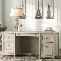 Beachcrest Home Bowerbank Executive Desk with File & Reviews | Wayfair