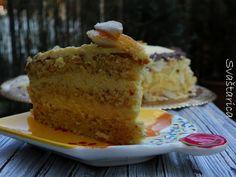 Bakina torta od badema i naranče Torte Recipe, Vanilla Cake, Cake Recipes, Desserts, Food, Tailgate Desserts, Deserts, Easy Cake Recipes, Essen