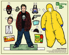 Breaking Bad Paper Dolls  Jesse Pinkman