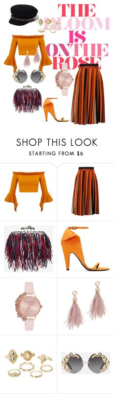 """""""Road Tripping"""" by arilashay ❤ liked on Polyvore featuring Givenchy, Alexander McQueen, Calvin Klein 205W39NYC, Olivia Burton, Lizzie Fortunato, Charlotte Russe, Dolce&Gabbana and River Island"""