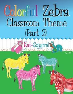 Colorful Zebra Classroom Theme Art (Part 2)