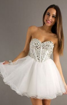 Strapless Short Prom Dress I just don't like the white
