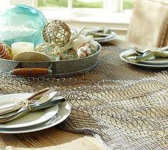 Fisherman's Net Table Throw #potterybarn
