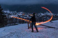 Glowing disc flinging at Bonfire Sunday by Patricia_Schuppi #ErnstStrasser #Austria #Österreich