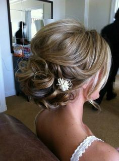 "Love this updo...Elegant without being ""big"" and fluffy all over."