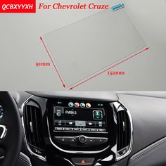 Car Sticker 8 7 Inch GPS Navigation Screen Steel Protective Film For Chevrolet Cruze Control of LCD Screen Car Styling #Affiliate
