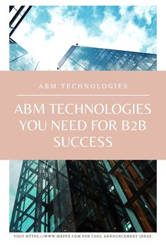 ABM services are life changing in many situations. It takes a values of commitment to the process and strategization to produce results, but they are always worthwhile. Party Market, Customer Relationship Management, Marketing Automation, Life Changing, Cool Things To Make, Budgeting, Success, Technology, Create