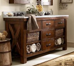Benchwright Double Sink Console #potterybarn