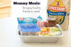 30 Days of Mommy Meals - great ideas for how to organize meals for new moms and also some recipes.