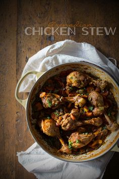 This Grenadian chicken stew is made with bone in chicken legs, vegetables and lots of flavorful spice. It's the perfect Caribbean chicken dish.