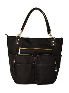 Olivia + Joy Zip Zoom Tote (Black): Handbags: Amazon.com