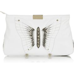 04e77bc1f9 Zulu butterfly leather clutch ( 795) found on Polyvore