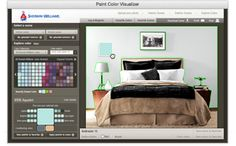 Home - Decoration Color Visualizer - Sherwin-Williams  Upload a picture of the room you want to paint, click and drag colors from SW color palette :)