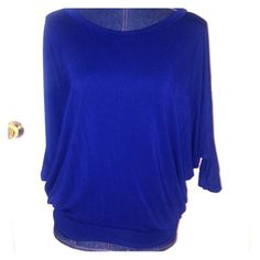 navy blue maternity top Wonderful top from pink blush! This is a maternity top and is included in the BOGO sale I'm having for all maternity clothes in my closet. Pink blush Tops Tunics