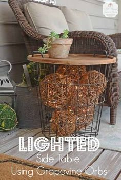 Lighted Side Table !