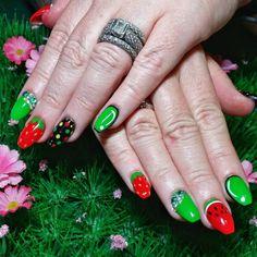 funny-fruit-acrylic-nail-design pretty 55 Acrylic Nail Designs 2018 Nail Art  pretty 55 Acrylic Nail Designs 2018