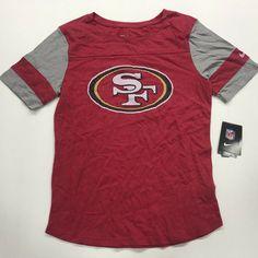 723663dabed Nike Women's NFL Team Apparel San Francisco 49er's T-Shirt Red M #fashion #