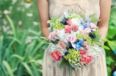 Pink and Blue Romantic Bouquet